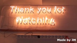 getlinkyoutube.com-Thank you for Watching electric fire letter