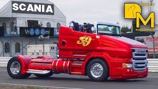 getlinkyoutube.com-WORLDS FASTEST TRUCK SCANIA 1000HP FREAKING SOUND BURNOUT CUSTOM RACE TRUCK
