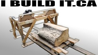getlinkyoutube.com-Making A Wooden Band Saw Mill From Scratch - Full Build