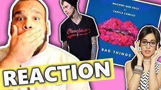 getlinkyoutube.com-Machine Gun Kelly, Camila Cabello - Bad Things [REACTION]