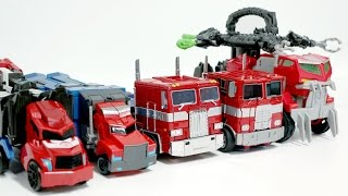 getlinkyoutube.com-Transformers Rid Prime BeastHunter G1 Evasion BigSize Optimus Prime Truck 5 Vehicle Robot Car Toys