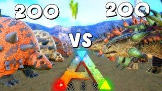 getlinkyoutube.com-ARK Survival Evolved 200 Doedicurus VS 200 Ankylosaurus | Anky VS Doed ( Gameplay )