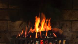 getlinkyoutube.com-Fireplace Yule Log in 4K! 6 HOURS!