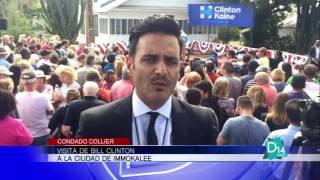 VISITA DE BILL CLINTON EN LA CUIDAD DE IMMOKALEE