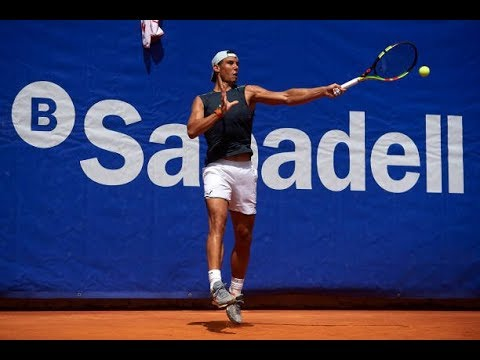 Rafael Nadal Practice at Barcelona Open, 24 April 2018