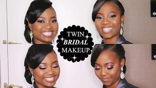 GlamByIsoken Bridal Makeover: Twin Bridal Glitter Cut- Crease Makeup