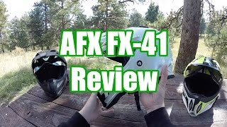 getlinkyoutube.com-AFX FX-41 Dual Sport Helmet Review