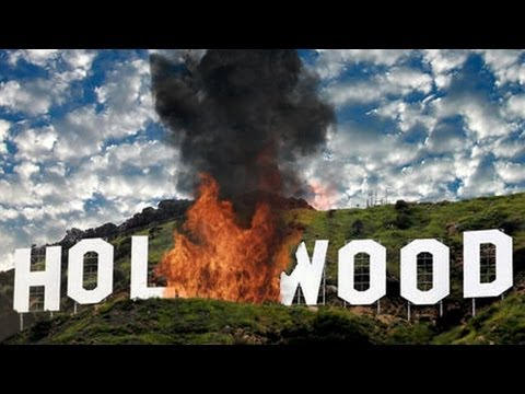 Hollywood's landmark sign burns after large explosion - after effects