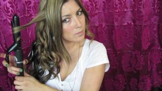 getlinkyoutube.com-Summer hair - beach waves with a 1 inch curling iron