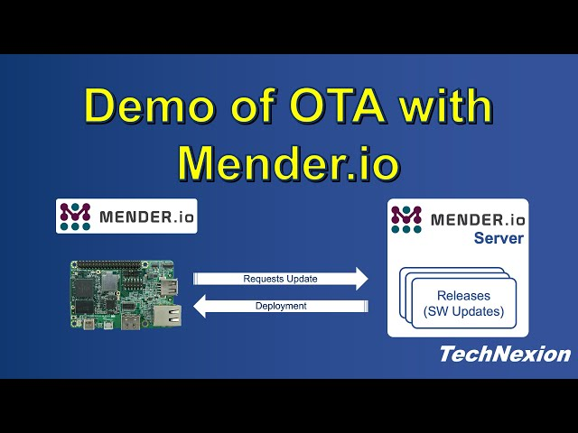 Using Mender OTA Service on TechNexion Hardware Tutorial