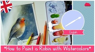 getlinkyoutube.com-Watercolor for Beginners Lesson 23: How to Paint a Robin in the Rain