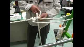 getlinkyoutube.com-やってみよう!ロープワーク~応用・ロープを張る(固定)
