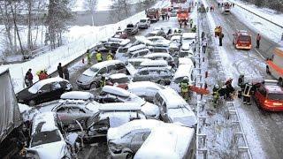 getlinkyoutube.com-#14 Очень страшные Аварии ЗИМА Январь 2016 - ДТП Car Crash Compilation winter HD
