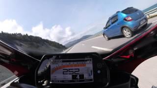 getlinkyoutube.com-Yamaha YZF-R1 Top Speed in a Tunnel 299km/h Onboard rn32