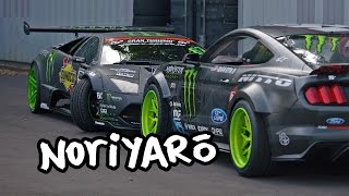 Monster Lamborghini and Mustang drift cars. Daigo Saito workshop tour