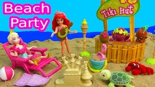 getlinkyoutube.com-Tropical Beach Party Playset Ocean in My Pocket Disney Queen Elsa Ariel The Little Mermaid Magiclip