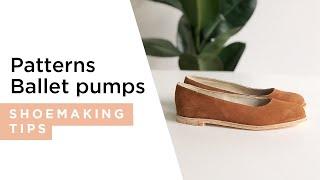 getlinkyoutube.com-How to make an easy shoe pattern - Ballet Pumps.