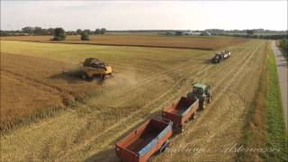 getlinkyoutube.com-Raps Ernte 2015 Vier Monster Mähdrescher New Holland und Claas Lexion 780 TT