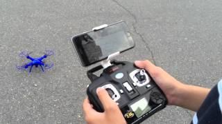 getlinkyoutube.com-Syma X5SW Explorers2, 6-Axis Gyro RC Headless Quadcopter, 2MP Wifi Camera (FPV)