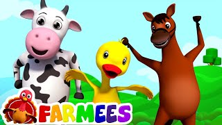 getlinkyoutube.com-If you're happy and you know it | farmees | nursery rhymes | kids songs