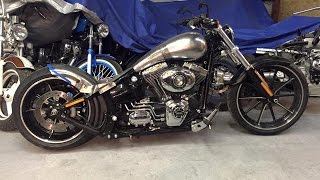 getlinkyoutube.com-Harley Davidson FXSB Softail Breakout Customizing Umbau