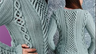getlinkyoutube.com-Vogue Knitting Fall 2014 #8 Fretwork Pullover