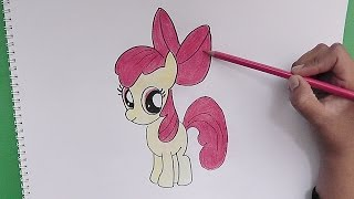 getlinkyoutube.com-Dibujando y coloreando Apple Bloom (My Little Pony) - Drawing and coloring Apple Bloom