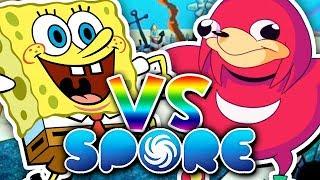 SPONGEBOB vs UGANDAN KNUCKLES?!   Spore: Planet Bikini Bottom (Episode 5)