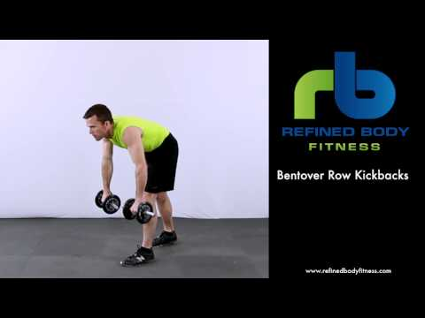Bent over Row Kickbacks   Exercise Demonstration by Refined Body Fitness