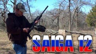 getlinkyoutube.com-Saiga 12 shotgun, 30 round drum!!! (Alliance Armament 12 gauge)