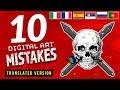 10 WORST Digital Art MISTAKES! 💀
