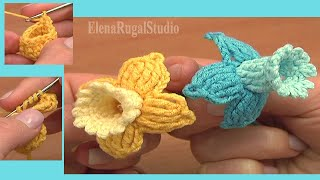 getlinkyoutube.com-Fuchsia Flower Free Crochet Pattern Tutorial 78 Beautiful 3D Flowers