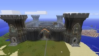 getlinkyoutube.com-How to build a minecraft castle super quickly! CHEAT! Part 1