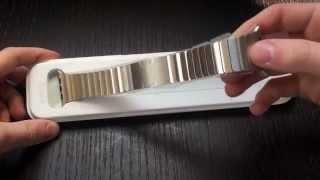 getlinkyoutube.com-Apple Watch Link Bracelet Unboxing