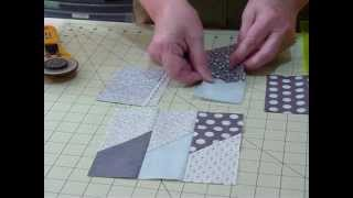 "getlinkyoutube.com-How to make a Picket Fence block using 5"" squares - Quilting Tips & Techniques 045"