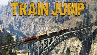 getlinkyoutube.com-TRAIN JUMP! (GTA V Online w/ Nanners, Syndicate, & Firefox)
