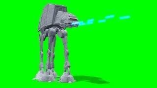 Star Wars ATAT Laser Shoot on green screen - free green screen