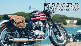 【Kawasaki W650 ショートムービー】W3風ダブロクで尾道ツーリング!【Short Movie】
