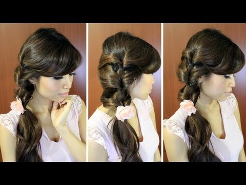 Everyday Fancy Side Ponytail Hairstyle Hair Tutorial