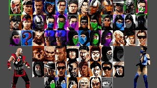 Ultimate Mortal Kombat Trilogy - flawless victories gameplay