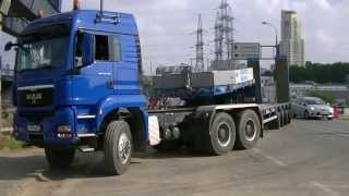 getlinkyoutube.com-MAN TGS 40.480 6x6 + Goldhofer STZ trailer