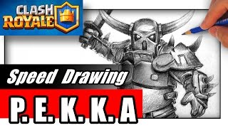 getlinkyoutube.com-How to Draw PEKKA from Clash of Clans and Clash Royale