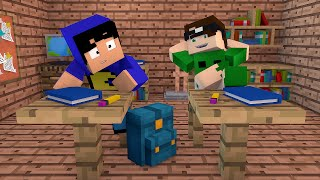 Minecraft: PAC E MIKE NA ESCOLA! (Build Battle)