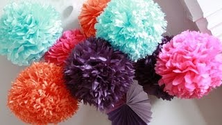 getlinkyoutube.com-How To DIY Paper Pom Tutorial | Decorations that impress