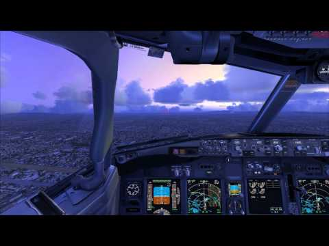 FSX PMDG 737 NGX Los Angeles Intl Airport Landing ALL View HD