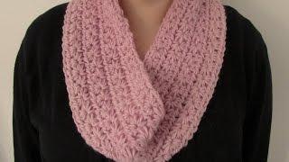 getlinkyoutube.com-VERY EASY chunky crochet star stitch cowl / scarf / snood / infinity scarf tutorial
