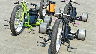 getlinkyoutube.com-Motorized Big Wheel Drift Trike Gang