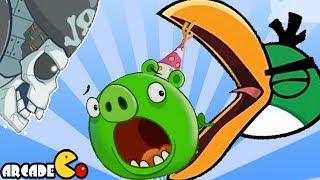 getlinkyoutube.com-Naughty Angry Birds (Stella & Hal) Vs Bad Piggies: UNLOCKED ALL SPACESHIP Walkthrough Part 6