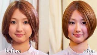 getlinkyoutube.com-【美容室動画】 BRIGE 大平 秀剛 Bob style which matches a face line