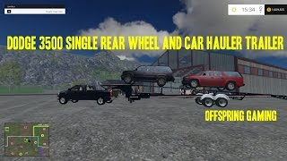 getlinkyoutube.com-Farming Simulator 2015 Hauling- Hot Shotting With the Dodge 3500 and Car Trailer
